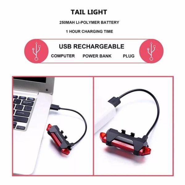 PACK - Lumière rechargeable pour Xiaomi M365