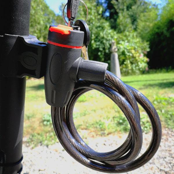 Anti-Vol de Sécurité Vélo En Acier Inoxydable Câble Bobine avec 2 Clés