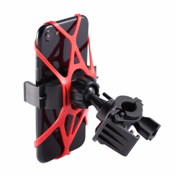 Support Smartphone Multi-directionnel rouge et noir