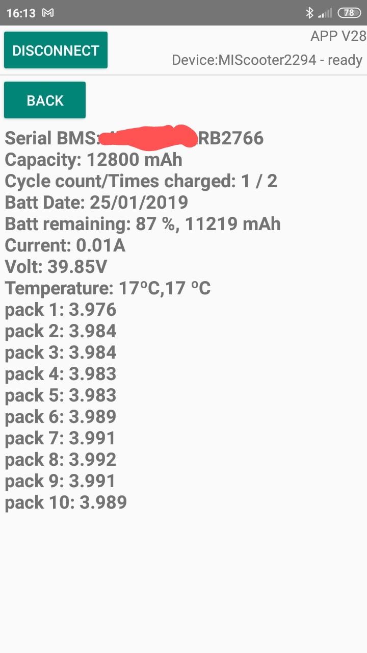 Batterie infos